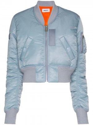 Укороченная куртка-бомбер MA1 AMBUSH. Цвет: синий
