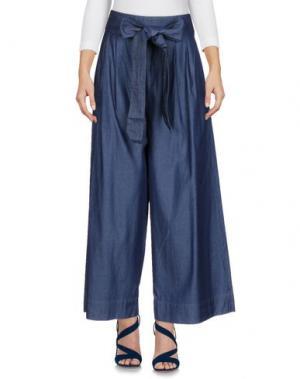 Джинсовые брюки-капри TIBI. Цвет: синий