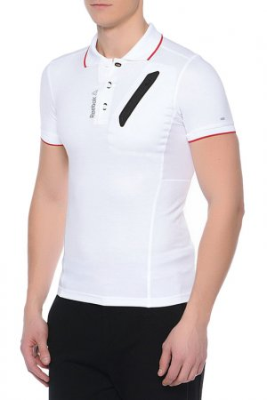 Поло OS CIS POLO Reebok. Цвет: белый