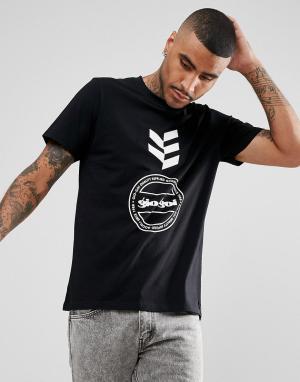 Черная футболка с логотипом Gio Goi. Цвет: черный