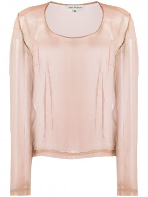Полупрозрачная блузка 1990-х годов Dries Van Noten Pre-Owned. Цвет: нейтральные цвета