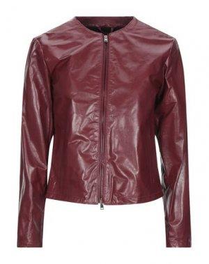 Куртка DACUTE. Цвет: красно-коричневый