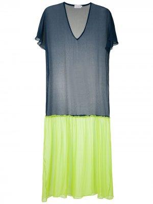Платье макси Duo Brigitte. Цвет: синий