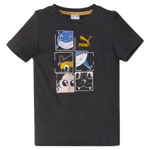 Детская футболка LIL Kids Tee PUMA. Цвет: черный