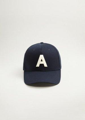 Хлопковая бейсболка с вышивкой - Alpha Mango. Цвет: синий