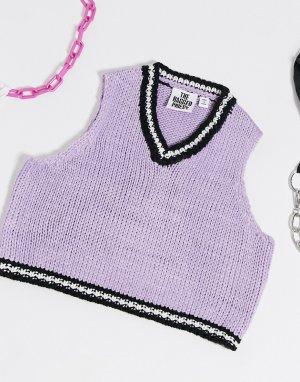 Вязаная майка-свитер -Фиолетовый The Ragged Priest