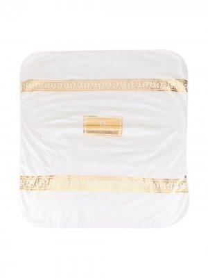 Двухцветное одеяло с логотипом Aigner Kids. Цвет: белый