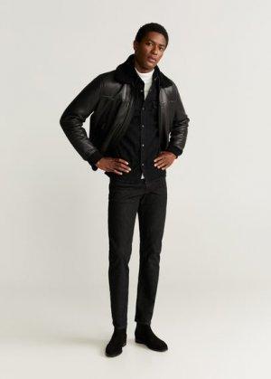 Джинсовая рубашка Premium - Ross Mango. Цвет: черный деним