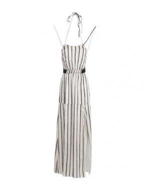 Длинное платье F**K PROJECT. Цвет: бежевый