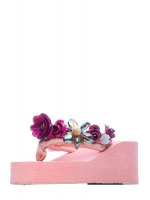 Сабо IVOLGA. Цвет: розовый