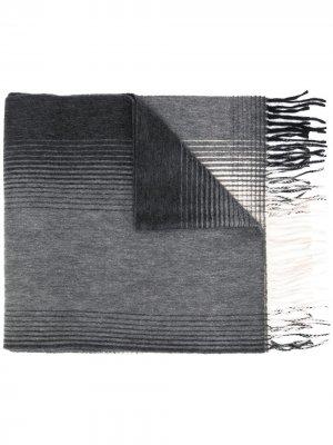Шарф с эффектом градиента Begg & Co. Цвет: серый