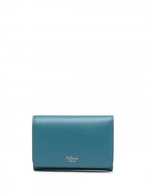 Маленький бумажник Mulberry. Цвет: синий