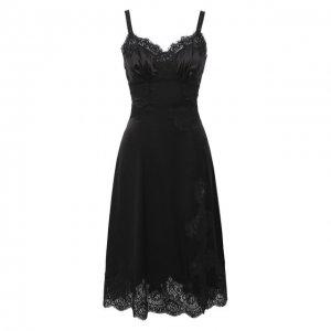 Сорочка из хлопка и шелка Dolce & Gabbana. Цвет: чёрный