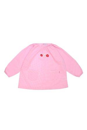 Фартук-рубашка для девочки MIKI HOUSE. Цвет: разноцветный