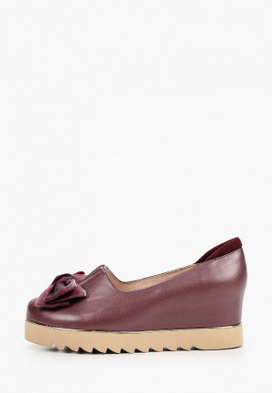 Туфли Balex Увеличенная полнота. Цвет: бордовый