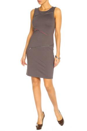 Платье LeMonada. Цвет: серый