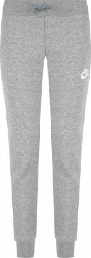 Брюки для девочек Sportswear, размер 146-156 Nike. Цвет: серый