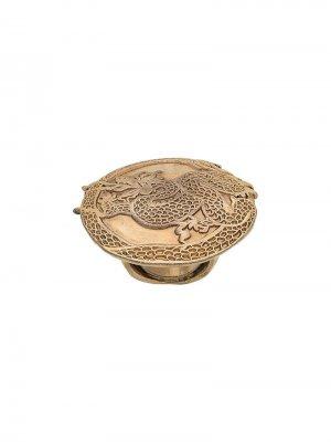 Кольцо с драконом Krizia Pre-Owned. Цвет: золотистый