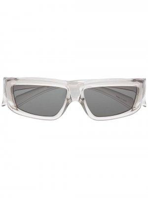 Солнцезащитные очки в прозрачной оправе Rick Owens. Цвет: нейтральные цвета