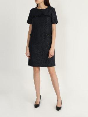Платье с коротким рукавом Korpo Collezioni. Цвет: siniy