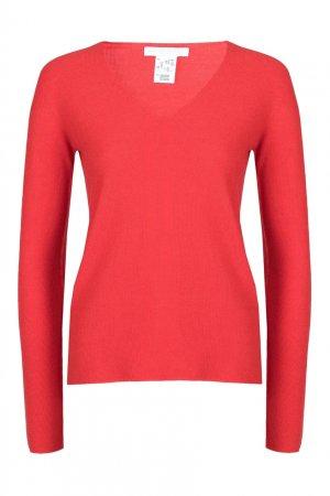 Красный пуловер с глубоким вырезом Fabiana Filippi