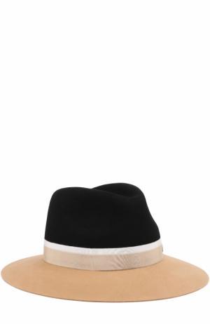 Фетровая шляпа Henrietta с лентой Maison Michel. Цвет: черный