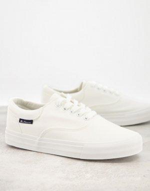 Белые парусиновые кеды на шнуровке -Белый Ben Sherman