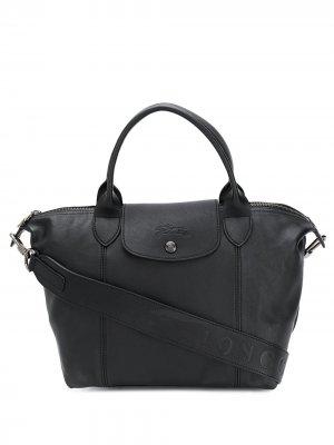 Сумка-тоут Le Pliage Cuir Longchamp. Цвет: черный