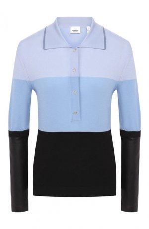 Шерстяной пуловер Burberry. Цвет: голубой