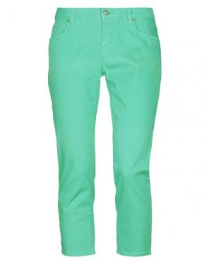 Джинсовые брюки-капри ROŸ ROGER'S. Цвет: светло-зеленый
