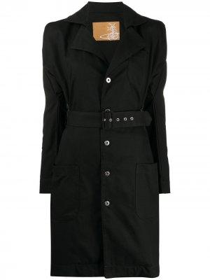 Платье-рубашка с пышными рукавами Vivienne Westwood. Цвет: черный