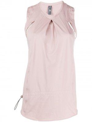 Топ с вырезами adidas by Stella McCartney. Цвет: розовый