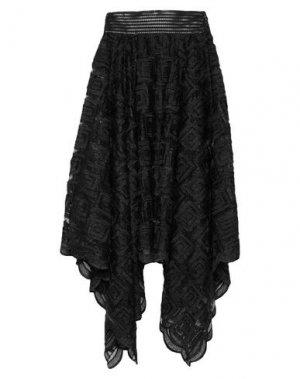 Юбка длиной 3/4 PLEIN SUD. Цвет: черный