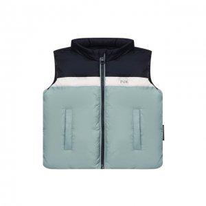 Пуховый жилет Emporio Armani. Цвет: синий