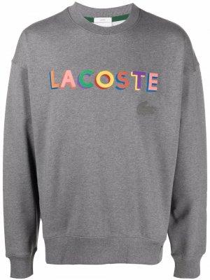 Толстовка с логотипом Lacoste. Цвет: серый