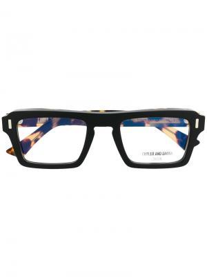 Очки в квадратной оправе Cutler & Gross. Цвет: черный