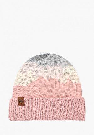 Шапка Buff Knitted Hat Sveta. Цвет: розовый