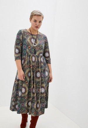 Платье Milanika. Цвет: разноцветный