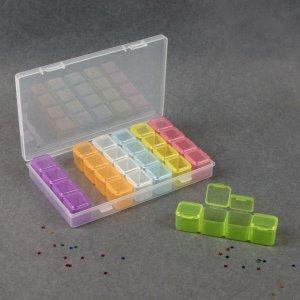 Контейнер для декора, 7 блоков, 4 ячейки, 17,5 × 10,5 2,5 см, цвет разноцветный Queen fair