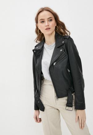 Куртка кожаная Oakwood RADIO. Цвет: черный