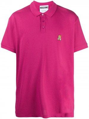 Рубашка поло оверсайз Moschino. Цвет: розовый