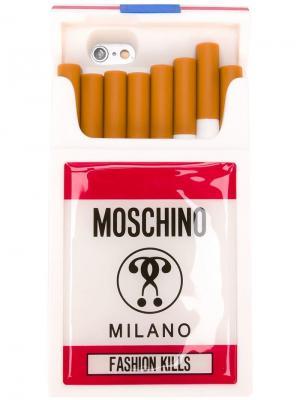 Чехол для iPhone 6 Fashion Kills Moschino. Цвет: белый