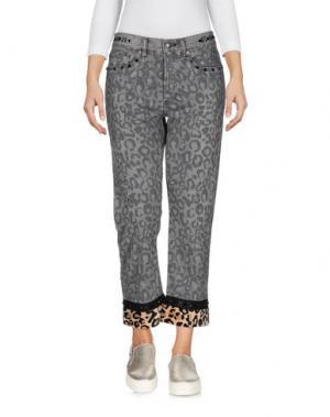 Джинсовые брюки-капри MARC BY JACOBS. Цвет: серый