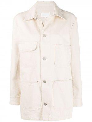 Удлиненная джинсовая куртка Maison Margiela. Цвет: нейтральные цвета
