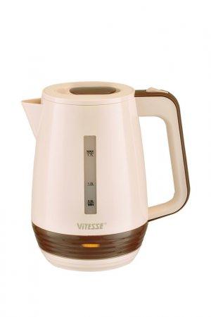 Чайник электрический 1,7л Vitesse. Цвет: розовый, коричневый