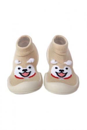 Носочки-ботиночки Ggomoosin. Цвет: мультицвет, бежевый