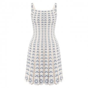 Платье из вискозы Alaia. Цвет: синий