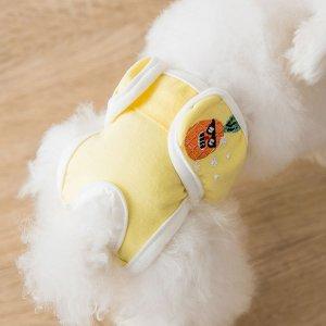 Санитарные брюки для домашних животных с вышивкой ананаса SHEIN. Цвет: многоцветный
