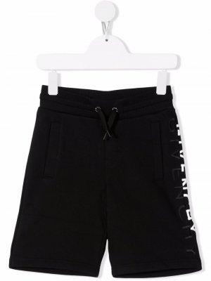 Шорты с вышитым логотипом Givenchy Kids. Цвет: черный