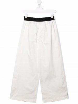TEEN logo-waistband trousers Moncler Enfant. Цвет: белый